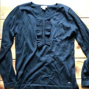 Lacoste black ruffle sweater